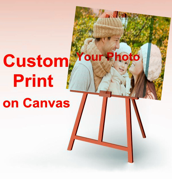 Your Picture,Family,friends or Baby Photo,Favorite Image Custom Print on Canvas Painting Home Decorate Free Shipping(China (Mainland))