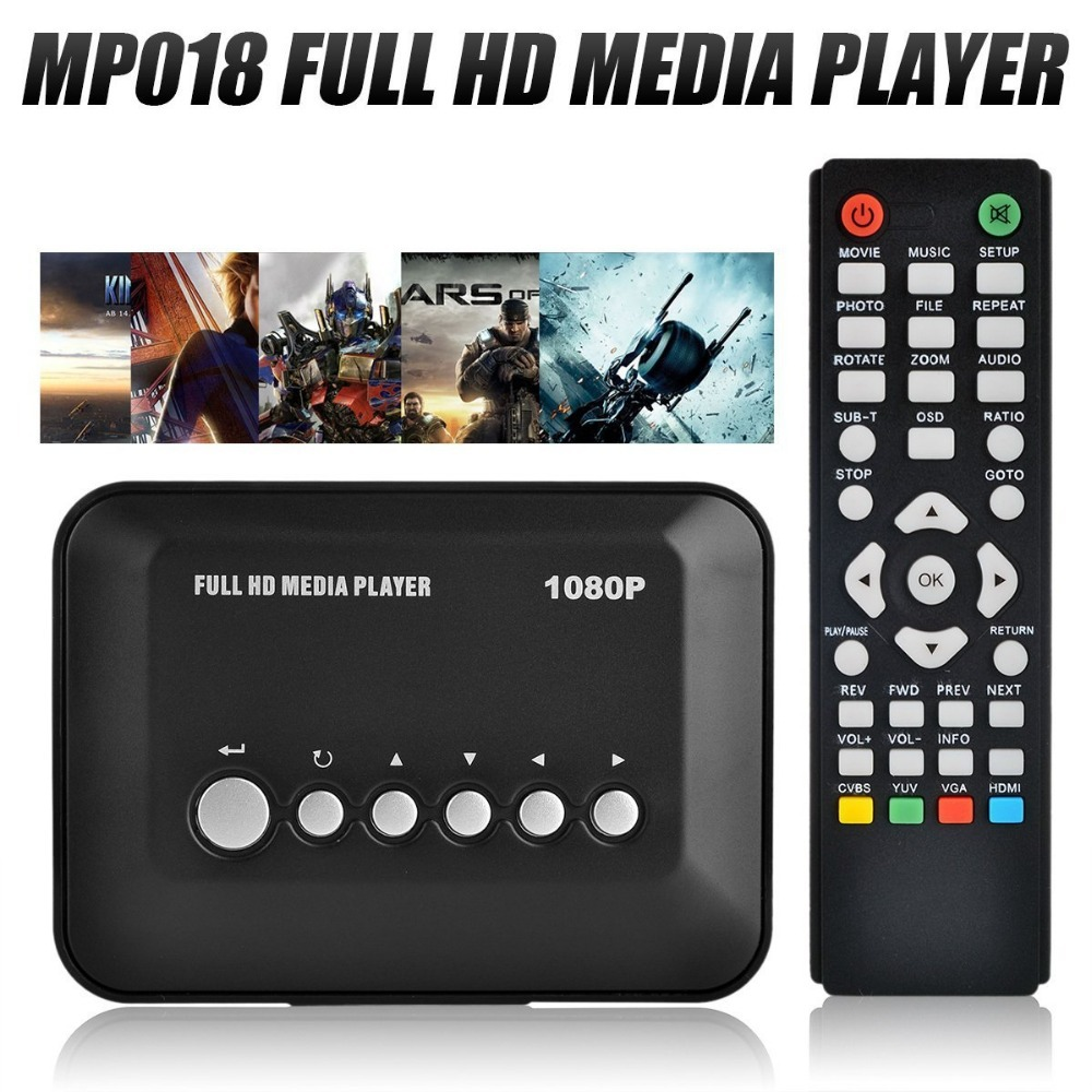 Mini Full HD 1080P Multi TV HDD Media Player HDMI Reproductor USB Video Player with Remote Control Support MP3 AVI RMVB MPEG(China (Mainland))