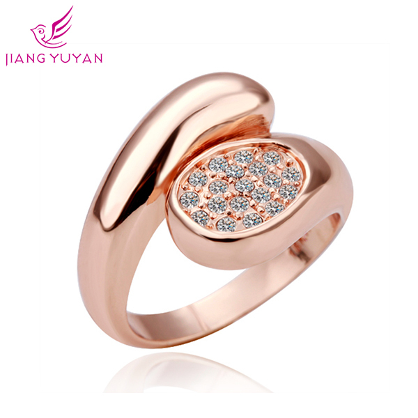 Hot 2014 Fashion Romatic Love Ring Women Engagement Gift Austrian Crystal Luxury Rings 18KGP Rose gold Plated - Guangzhou PinCe household products co., LTD store