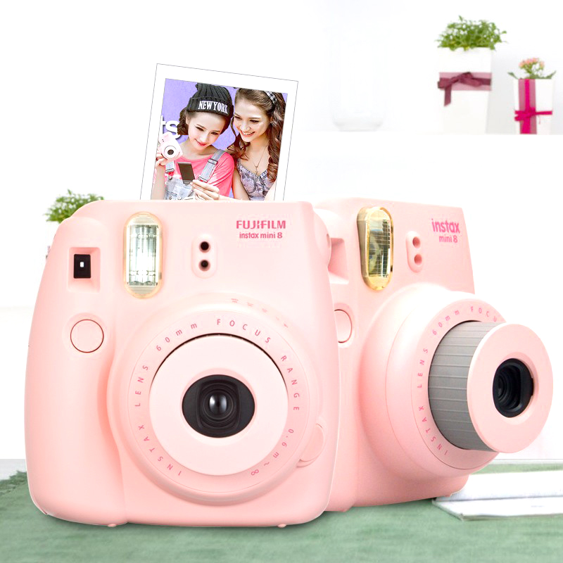 Fujifilm Instax Mini 8 Camera Fuji Mini 8 Instant Film Photo Camera Fashion Convenient 4 Color White Pink Blue Red Free shipping(China (Mainland))