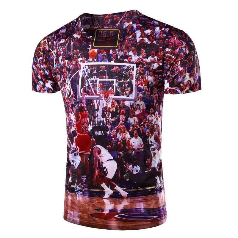 New Brand Fashion 3D Printed Basketball Game T Shirts Cotton O Neck T-shirt Men Short Sleeve Shirt Mens Clothing Casual Tee Tops(China (Mainland))