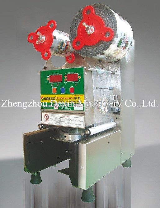 Free Shipping K2580D TAIWAN BRAND Automatic Cup Sealer Packing Machine/Sealing 90/95mm Cups,CE,UL(China (Mainland))