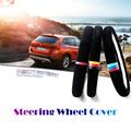 38cm Car Steering Wheel Cover Sporty Velvet Interior Decoration For BMW X1 X3 X5 E36 E39