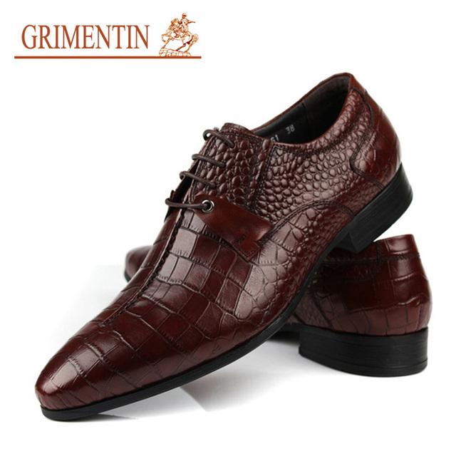 GRIMENTIN крокодил мода уникальный Итальянский роскошные натуральная кожа мужчины ...