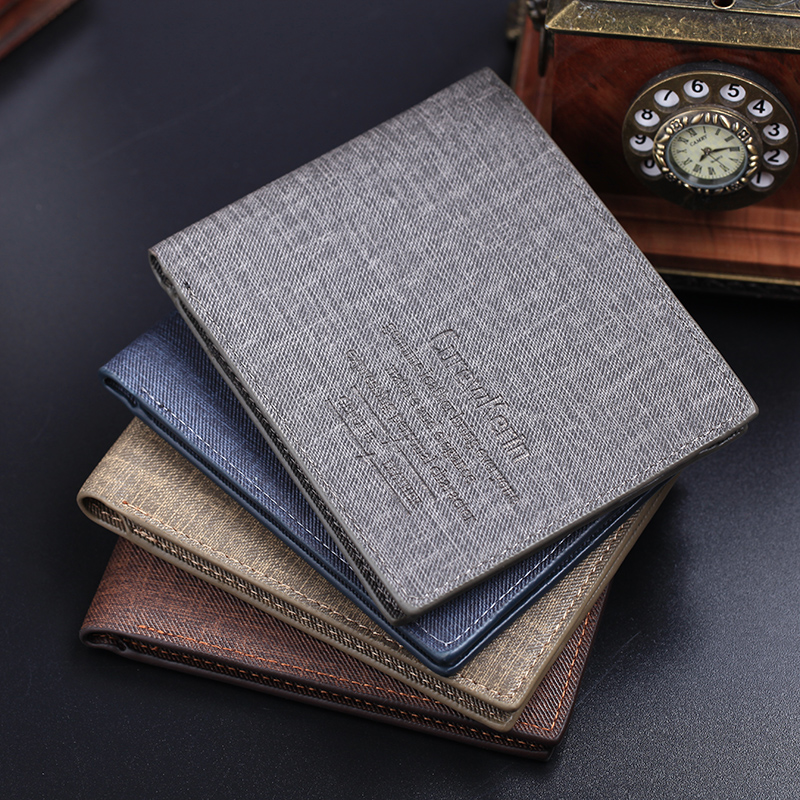 High quality men's retro matte PU leather Wallets men Wholesale short leather wallets card holders purse for men Free Shipping(China (Mainland))