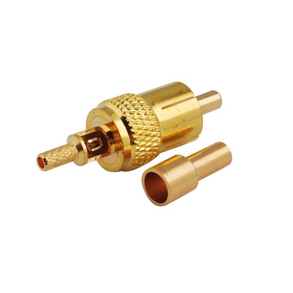 RCA Plug male Crimp for RG174 RG316 LMR100 cable Straight RF connector(China (Mainland))