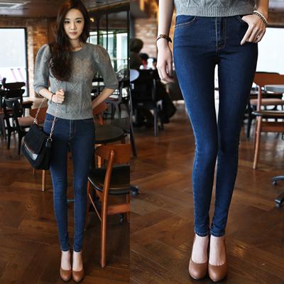 [DK Jeans] Autumn Korean Version Of Retro High Wai...