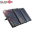 ELEGEEK 15W Portable Solar Charger Foldable SUNPOWER Solar Panel Charger with Dual USB Ports Tuck Net