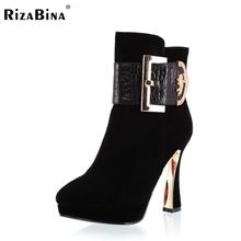 Media del tobillo envío libre corto de cuero genuino verdadero natrual botas de tacón alto de las mujeres de arranque nieve R2085 EUR tamaño 34-39(China (Mainland))