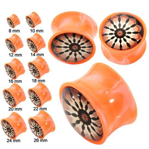 Body Jewelry UV And Acrylic Materials Unique Ear Plugs 20 Pieces/Lot Plugs For Ear High Quality EK-0020(China (Mainland))