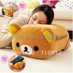 J2 RILAKKUMA plush bear big pillow,high quality, 1pc