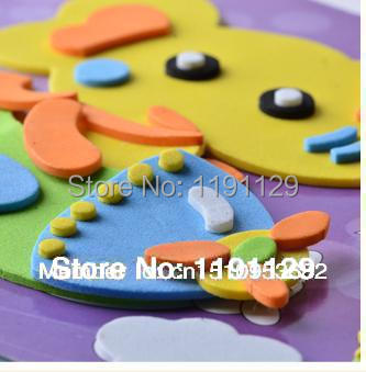 3D puzzle drawing stickers big size EVA DIY stickers colorful drawing paper for children learning and educational toys(China (Mainland))