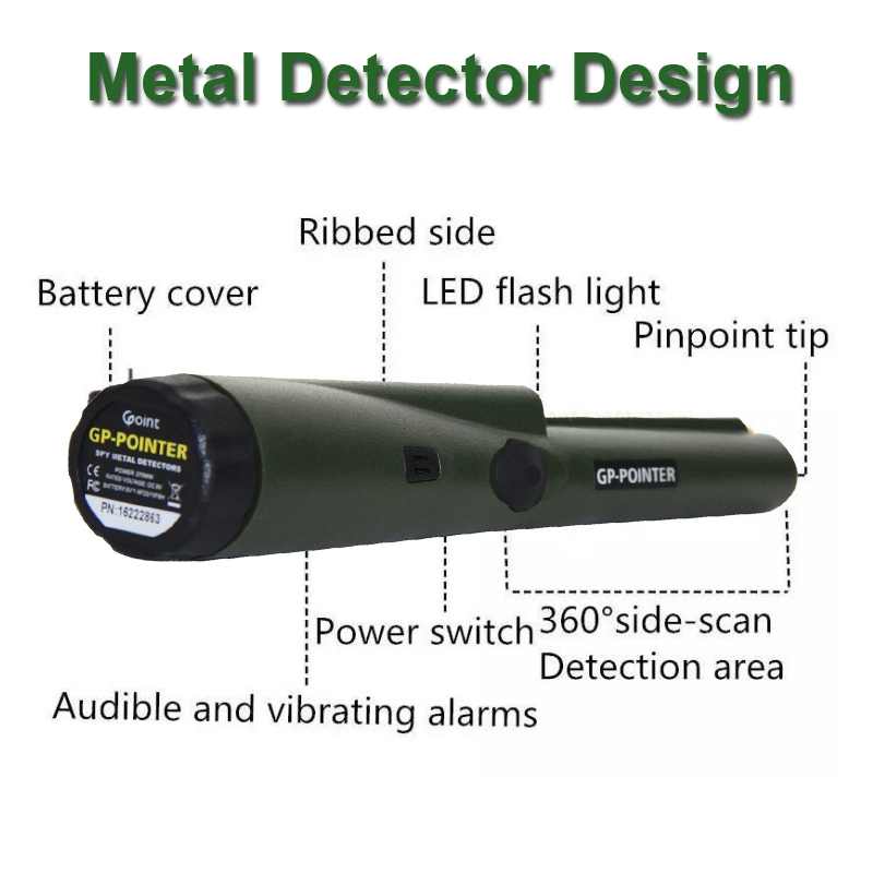 Free Shipping GP-pointer Handheld metal detector Waterproof Gold Pinpointer Metal Detector With Sheath