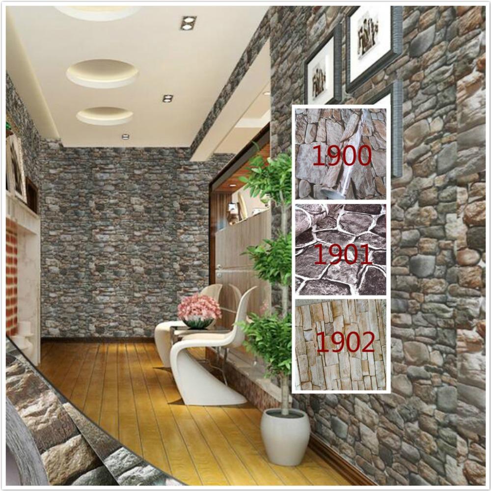 Self adhesive 3d wallpaper modern vintage stone pattern for Room decor 3d self adhesive wallpaper