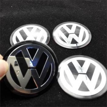 2015 4Pcs Car VW Stickers Wheel Center Fits Hub Cap Stickers 60mm wheel center emblems for VW polo golf 4 passat b5 touran bora