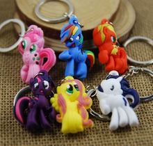 Buy Little Ponies keychain cute key ring flexible glue cartoon key chain portachiavi chaveiro llaveros mujer christmas gifts for $1.80 in AliExpress store