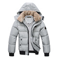 Men s Down Parka Thickening Warm Winter Jacket Cotton Padded Clothes Men s Slim Fit Hooded