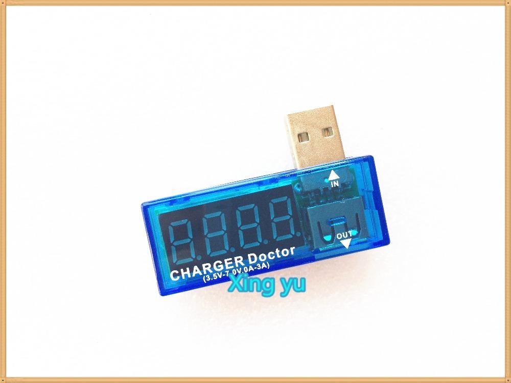 Digital USB Mobile Power charging current voltage Tester Meter Mini USB charger doctor voltmeter ammeter WithTracking Number(China (Mainland))