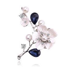 Vintage Retro Spilla per Le Donne Albero di Foglie di Fiore Frutta Spilla di Perle Spille Grande Vestito Elegante Vestito Spille per Le Donne Distintivo(China)