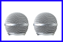 2 PCS Replacement Grille Mesh Head Ball for Shure SM 58 PGX2 PG4 SLX2 SLX4 Microphone System(China (Mainland))