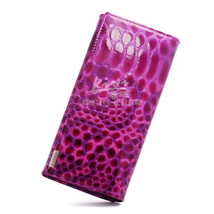 100% Genuine leather2015 new a single explosion models! 5 color Snake Lady long wallet, leather wallet leather goods wholesale(China (Mainland))