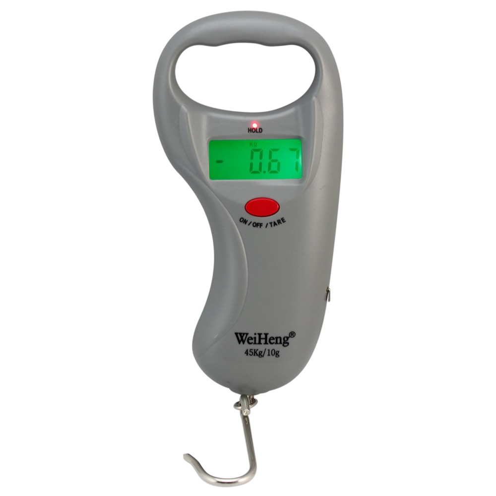 45kg 10g hanging fish digital scale measuring tape in for Fish measuring tape