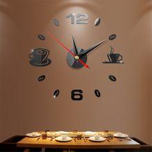 DIY 3D Numer Zegar Ścienny Lustro Naklejka Home Office Decor Art Naklejka Naklejka Pokój Projekt nowoczesny design Cichy Zegar(China)