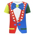 Men Circus Clown 3D T Shirt Carnival Cosplay Top Short Sleeve