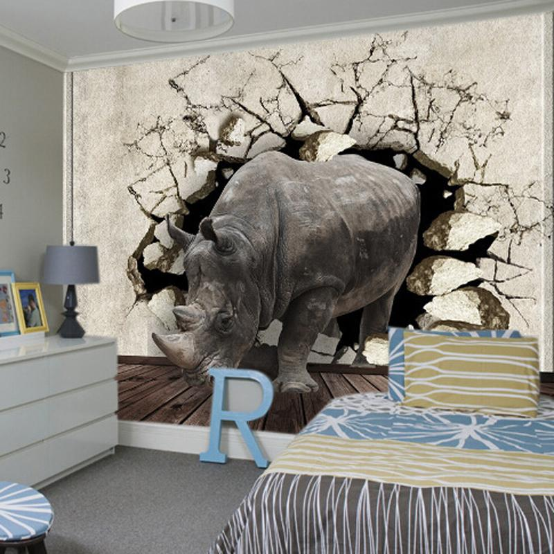 Wallpaper mural kids picture more detailed picture about for Elephant wall mural