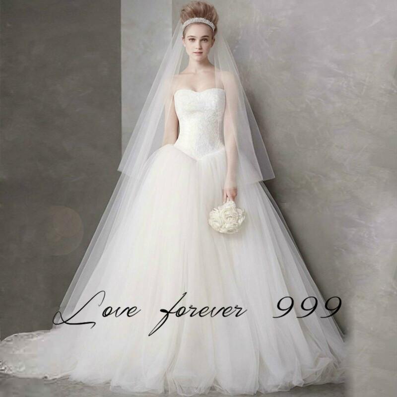 2016 elegant ball gown wedding dress sweetheart neck for Big tulle ball gown wedding dress