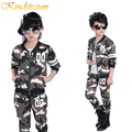 Kindstraum 2017 Children Clothing Sets Camouflage Kids Sports Suits Boys Girls Spring Tracksuits 2pcs Casual Coat