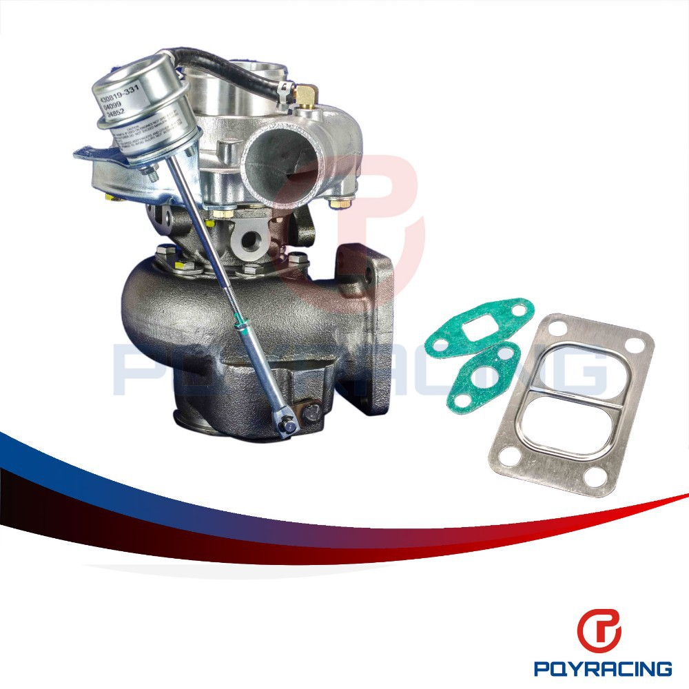 PQY STORE- TURBO KKR480 Turbocharger RB20/RB25/13B,A/R:.50 cold,70 hot.t3 flange t3/t4 bearing housing MAX HP: 450HP PQY-TURBO43