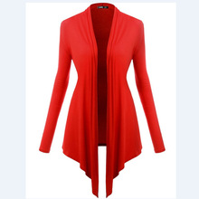 6 Colors New Irregular Cardigan Women Casual Loose  Capes Coat  Long-sleeve Tops Women Long Sweaters Cardigans(China (Mainland))