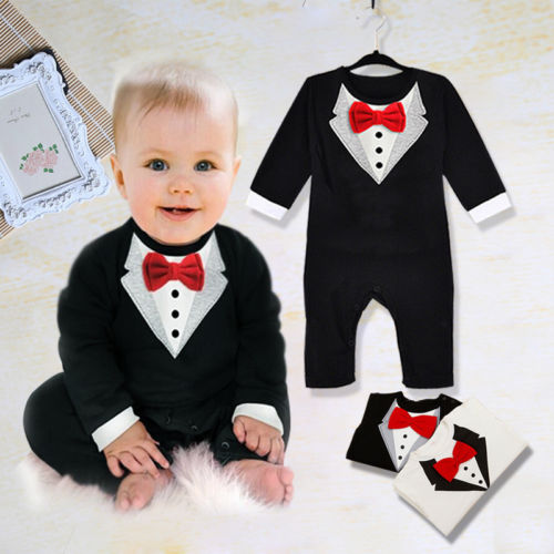 New Baby Kid Boy Cotton Gentleman Jumpsuit Romper Bodysuit Clothes Outfit 4Sizes<br><br>Aliexpress