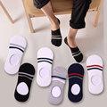 Thin Invisible Ankle Socks Men Summer Casual No Show Slip Socks Non Slip Male Colorful Boat