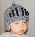 Free Shipping 2014 New Boy And Gril Crochet Knit Cute Hat With a Gladiator Mask Cap