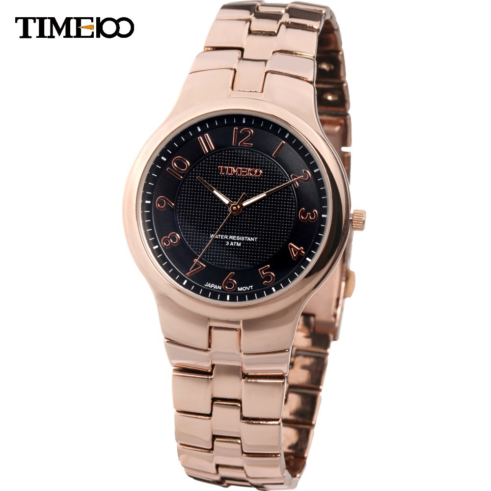 2015 New Design Fashion TIME100 Luxury Brand Easy Read Steel Band Full Steel Strap Couple Dress Quartz Watch For Men#W50005G.03A(China (Mainland))