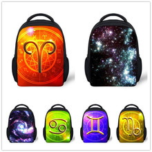 new design children school bags small bookbag for boys Constellation backpack universe space schoolbag kindergarten galaxy bag(China (Mainland))