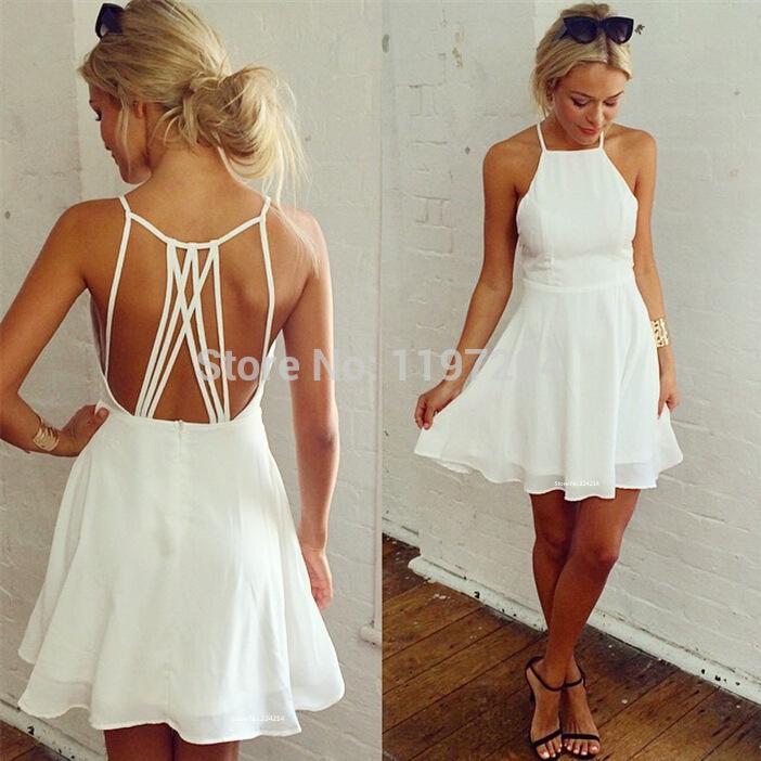 2015 Hot Novelty Latest Designs Sexy Woman Summer Pleated Dress Club Wear Backless Spaghetti Strap Beach Dress Sundress 437H(China (Mainland))