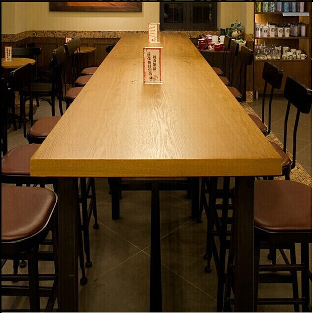 Starbucks dining table dinette combination of solid wood  : Starbucks dining table dinette combination of solid wood conference table desk American retro bar table long from www.aliexpress.com size 623 x 623 jpeg 94kB
