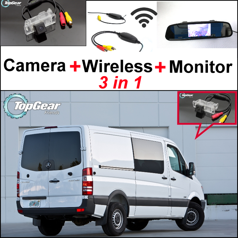 3 in 1 Special Camera + Wireless Receiver + Mirror Monitor Rear View Back Up Parking System For Mercedes Benz For Dodge Sprinter<br><br>Aliexpress