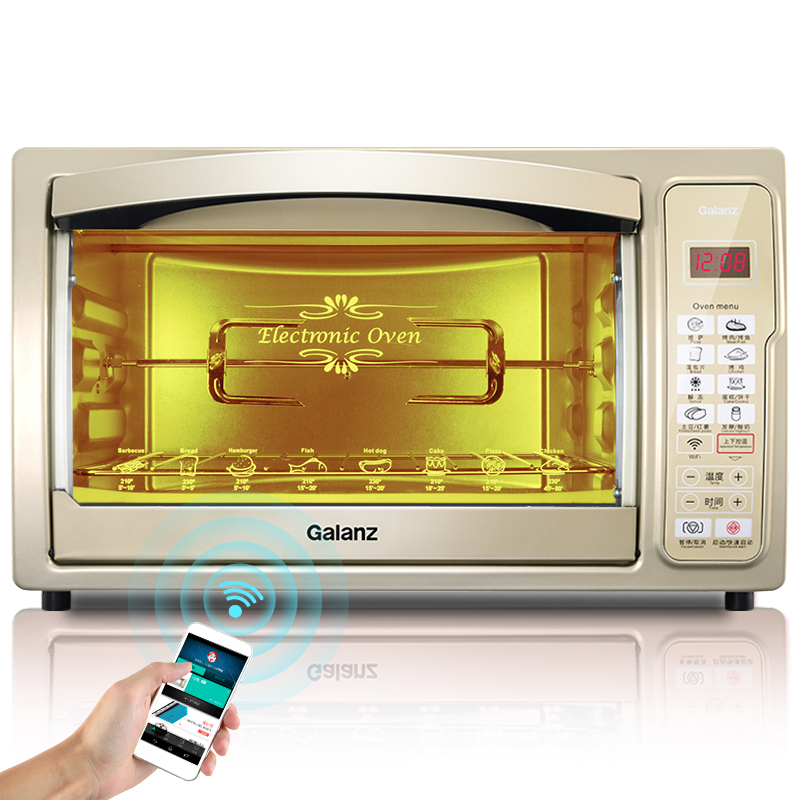 Home Baking Oven Smart Electric Stove Multifunction 30 Liters Capacity Kitchen Appliances luxury cooking tools(China (Mainland))