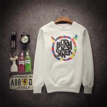 New O neck born sinner men boy women streetwear pullover hiphop active jaquetta hoodies sweatshirt coat retail wholesale