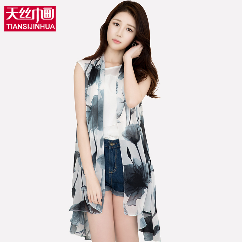 2017 Women Chiffon Floral Printed Scarf Summer Beach Plaid Flower Casual cover up Silk Scarves Dress Sleeveless Wrap Pashmina(China (Mainland))