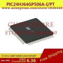 Integrated Circuit PIC24HJ64GP506A-I/PT IC MCU 16BIT 64KB FLASH 64TQFP PIC24HJ64GP506A-I 24HJ64 PIC24HJ64 - Chips Store store