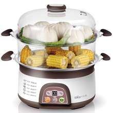 650W Brown 6L large capacity Double Electric Food Steamers(China (Mainland))