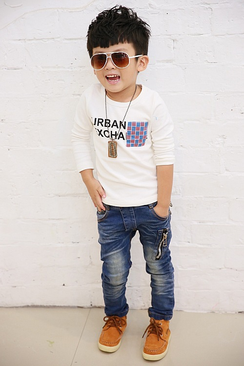 Leather Jeans For Boys Pants Boys Zipper Leather