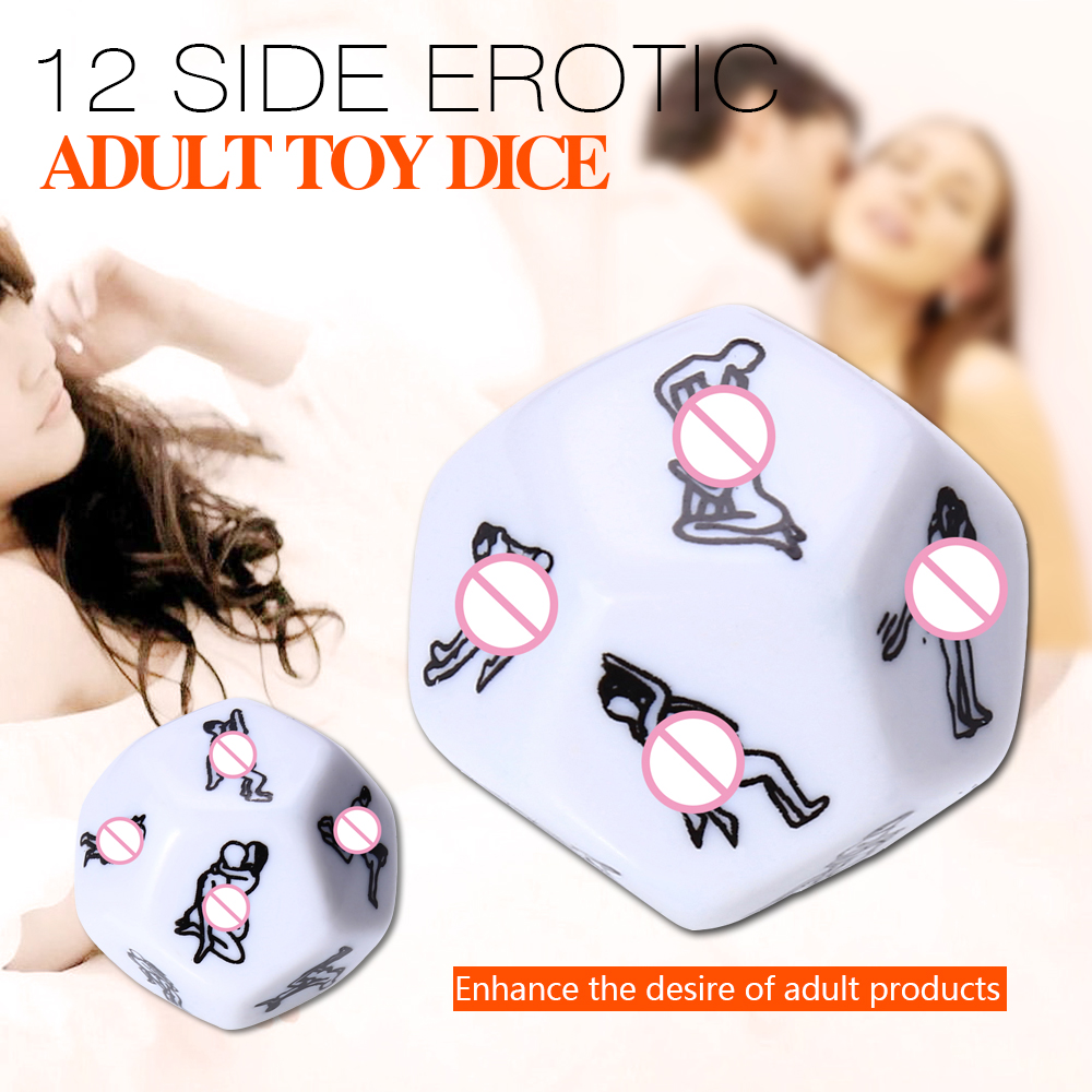 12 Sided Erotic Adult Dice Toys Foreplay Game Intensifier Desire Adult Product White