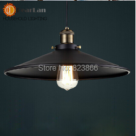 Fashional Pendant Lights,Vintage American Country Style,Black Shade Lights/Lamps/Lighting Designer Fast Shipping - Indoor-Lighting Mall's store