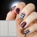 12 Dicas/Folha Irregular Triângulo Padrão Prego Vinis Nail Art Manicure Adesivos Stencil JV206 #23528